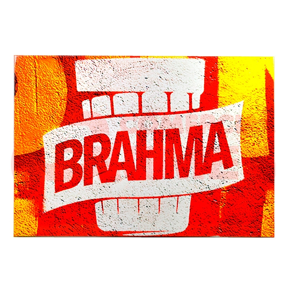 Placa Decorativa de Metal Brahma 41X29cm - Bakar-Bakar