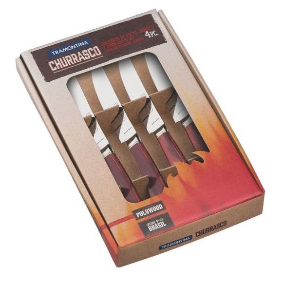 Conjunto de facas jumbo para churrasco 4 peças POLYWOOD - TRAMONTINA - Bakar-Bakar