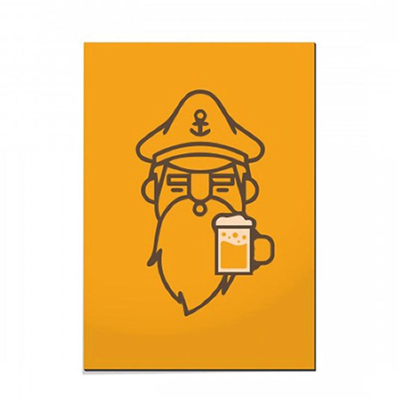 Placa Marinheiro e Cerveja 30x44 - Confraria 77 - Bakar-Bakar
