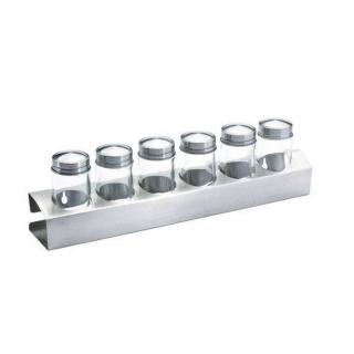 Jogo de Porta Condimentos c/ 6 potes de vidro Bon Gourmet