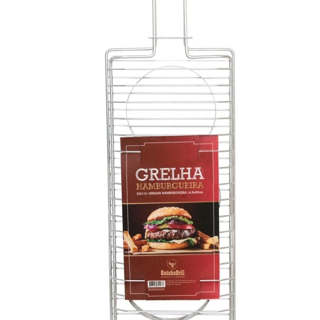 Grelha para Hambúrguer 14,5x39cm Grilazer - Bakar-Bakar