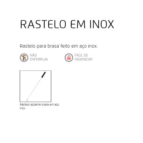 RASTELO INOX ESPALHA BRASA 73CM - Bakar-Bakar
