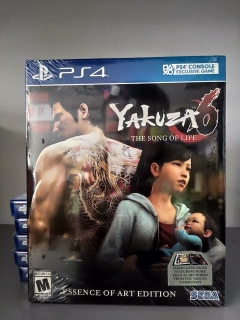 Yakuza 6: The Song Of Life Essence Of Art Edition + Livro - Jogo Ps4