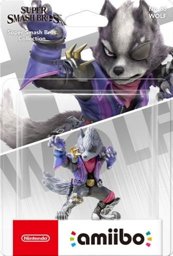 Amiibo Wolf Super Smash Bros. Collection - Switch 3DS Wii U - Atacado dos Jogos