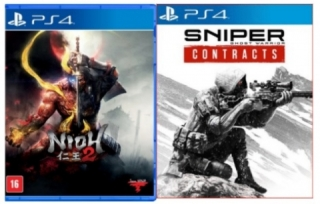 Kit 2 Jogos Nioh 2 + Sniper Ghost Warrior Contracts - PS4