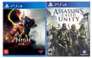 Kit 2 Jogos Nioh 2 + Assassins Creed Unity - PS4