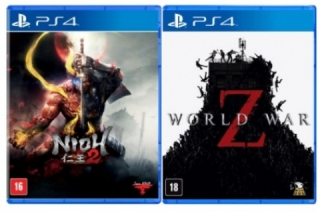 Kit 2 Jogos Nioh 2 + World War Z - PS4