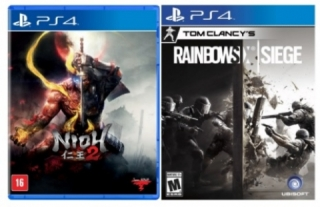 Kit 2 Jogos Nioh 2 + Tom Clancys Rainbow Six Siege  - PS4
