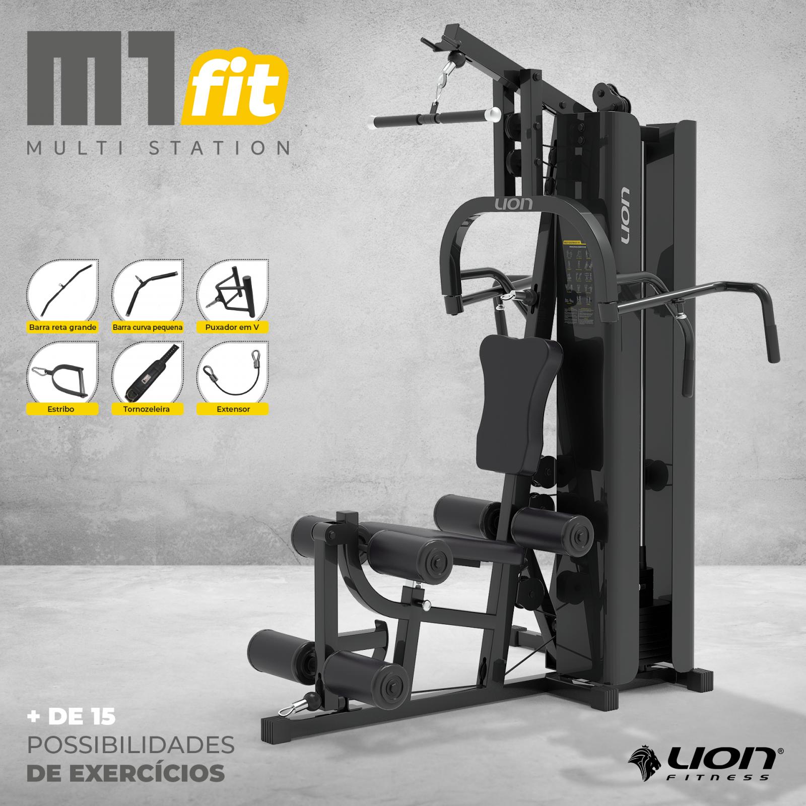 Estação Multi Station M1 Fit - LION FITNESS - NEOFITNESS