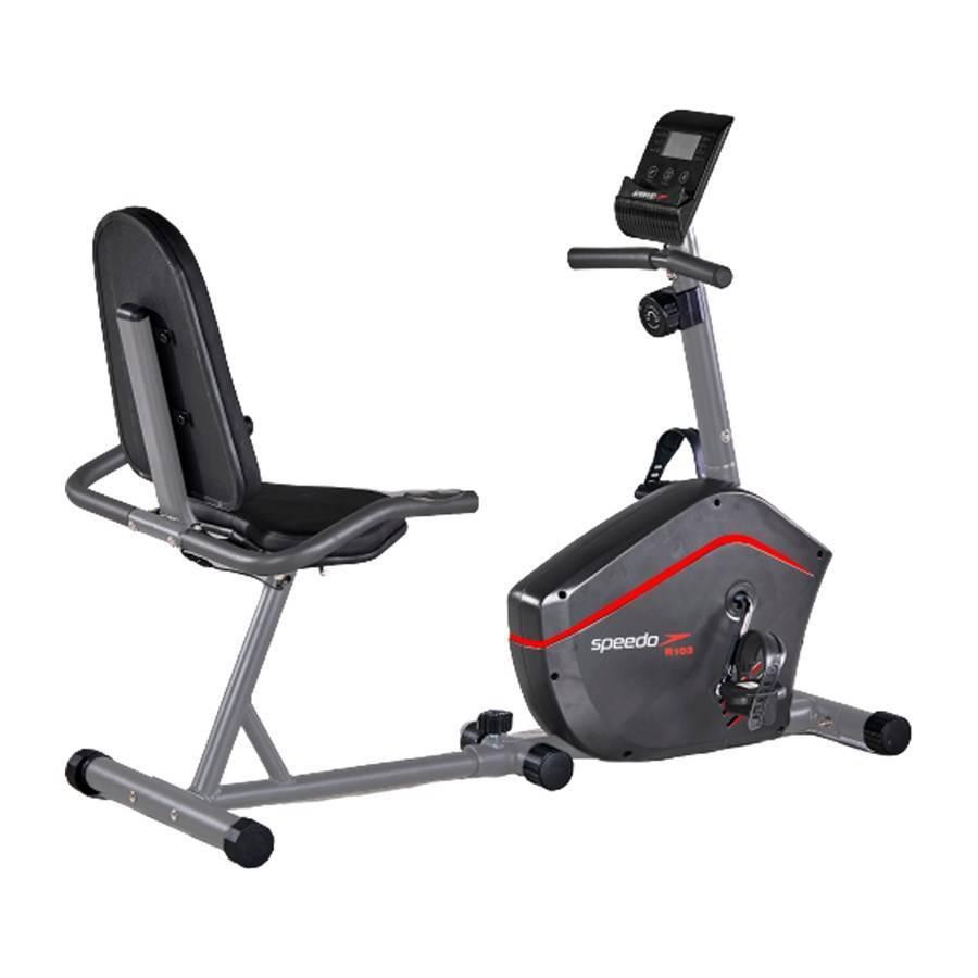 Bicicleta horizontal Speedo R103 - Residencial - Com resistência magnética - NEOFITNESS