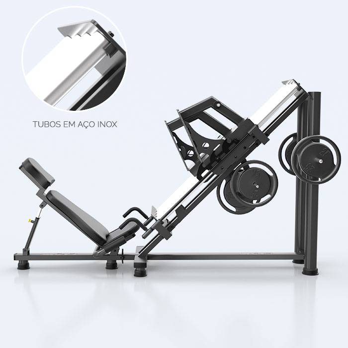 Leg Press 45 Unilateral - PESO LIVRE - LION FITNESS