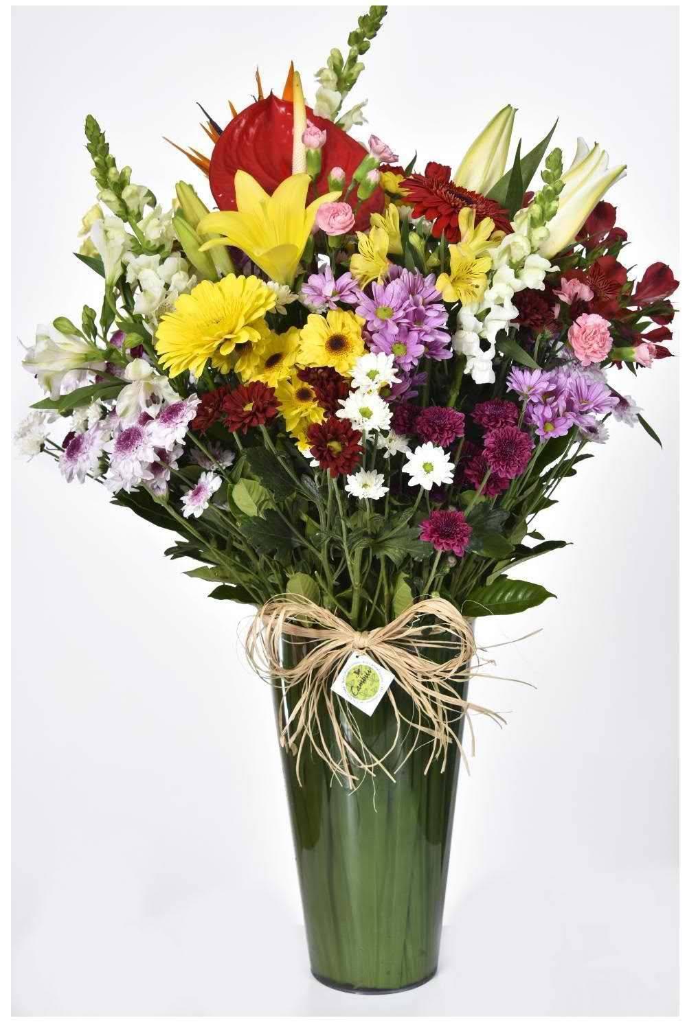 Bouquet Alegria no Acrílico - Floricultura Cambuí
