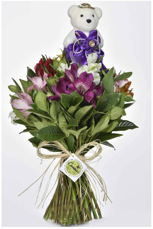 Mini Bouquet Fru-Fru Roxo - Floricultura Cambuí