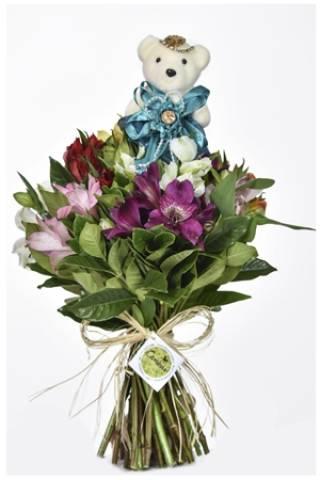 Mini Bouquet Fru-Fru Verde - Floricultura Cambuí