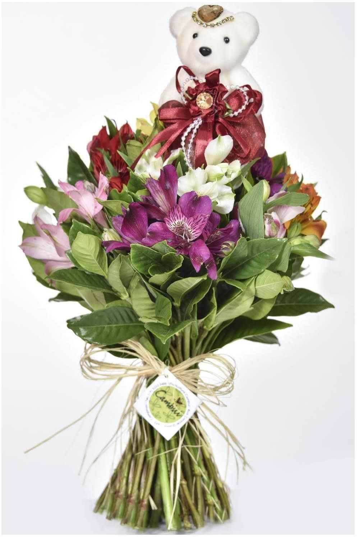 Mini Bouquet Fru-Fru Vermelha - Floricultura Cambuí