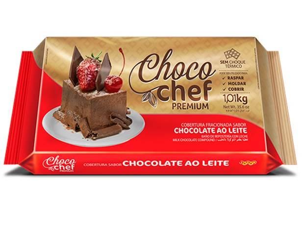 Choco Chef Premium Chocolate ao Leite - 1,01kg - Jazam Alimentos