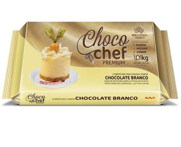 Choco Chef Premium Chocolate Branco - 1,01kg - Jazam Alimentos