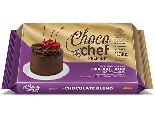 Choco Chef Premium Chocolate Blend - 1,01kg - Jazam Alimentos