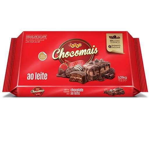 Chocomais ao Leite Cobertura Fracionada - 1,01kg - Jazam Alimentos