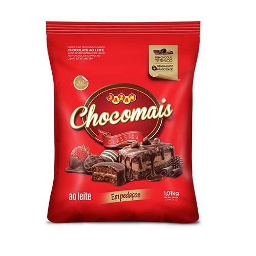 Chocomais ao Leite Fracionada em Pedaços - 1,01kg - Jazam Alimentos