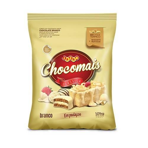 Chocomais Branco em Pedaços - 1,01kg - Jazam Alimentos