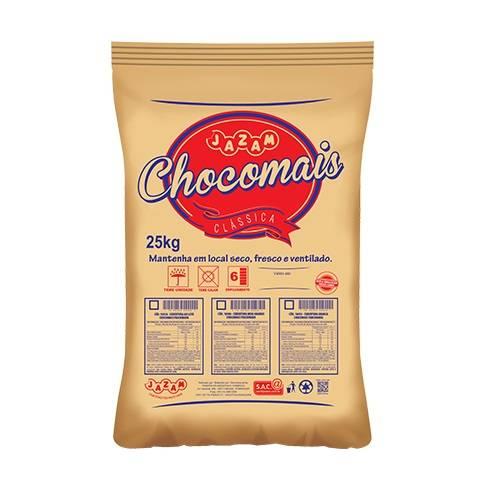 Chocomais Meio Amargo em Pedaços - 25kg - Jazam Alimentos