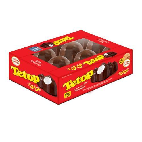 Tetop Chocolate Display 6 unidades - 84g - Jazam Alimentos