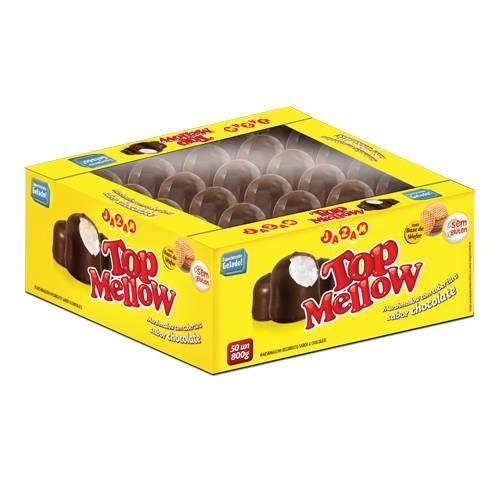 Top Mellow Chocolate Cx 50 unidades - 800g - Jazam Alimentos