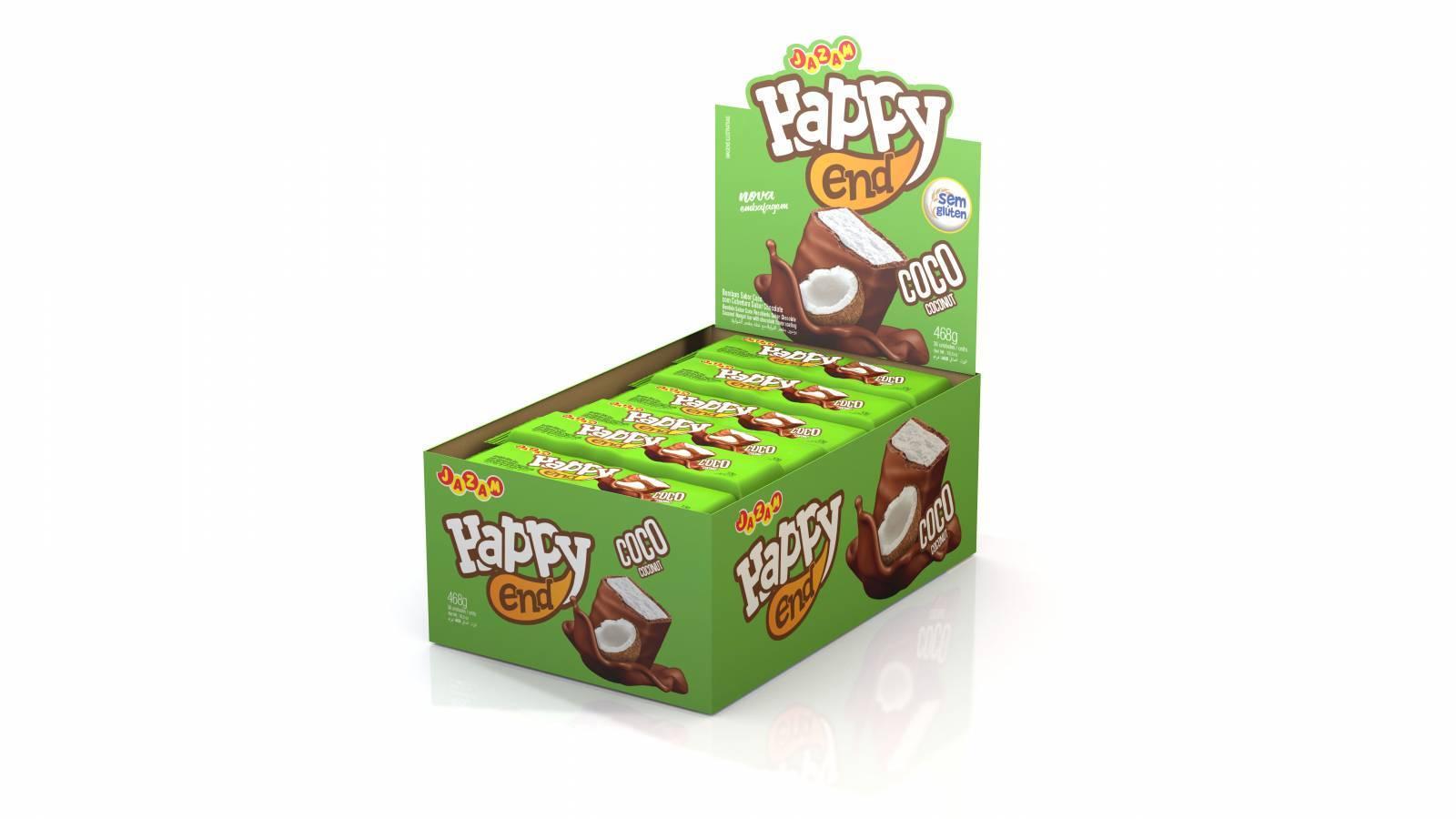 Bombom Happy End Coco - 468g - Jazam Alimentos