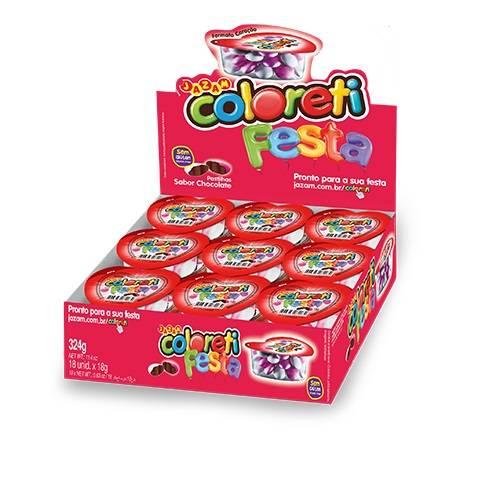 Coloreti Festa Coração 324g - Jazam Alimentos