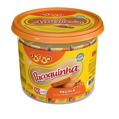 Paçoquinha Pote 1,01kg - Jazam Alimentos