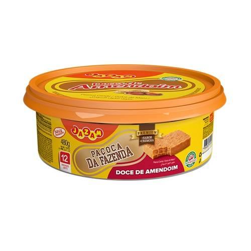 Paçoca da Fazenda Premium Pote 480g - Jazam Alimentos