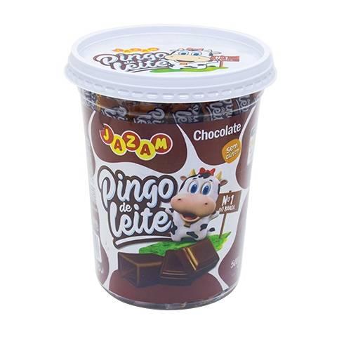 Pingo de Leite Chocolate - Pote 500g - Jazam Alimentos
