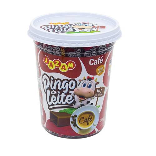Pingo de Leite Café - Pote 500g - Jazam Alimentos
