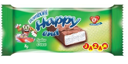 Bombom Happy End Coco - 144 unidades - Jazam Alimentos