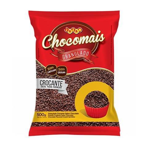 Granulado Crocante Sabor Chocolate - 500g - Jazam Alimentos