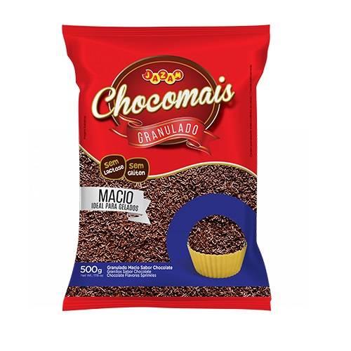 Granulado Macio Sabor Chocolate - 500g - Jazam Alimentos