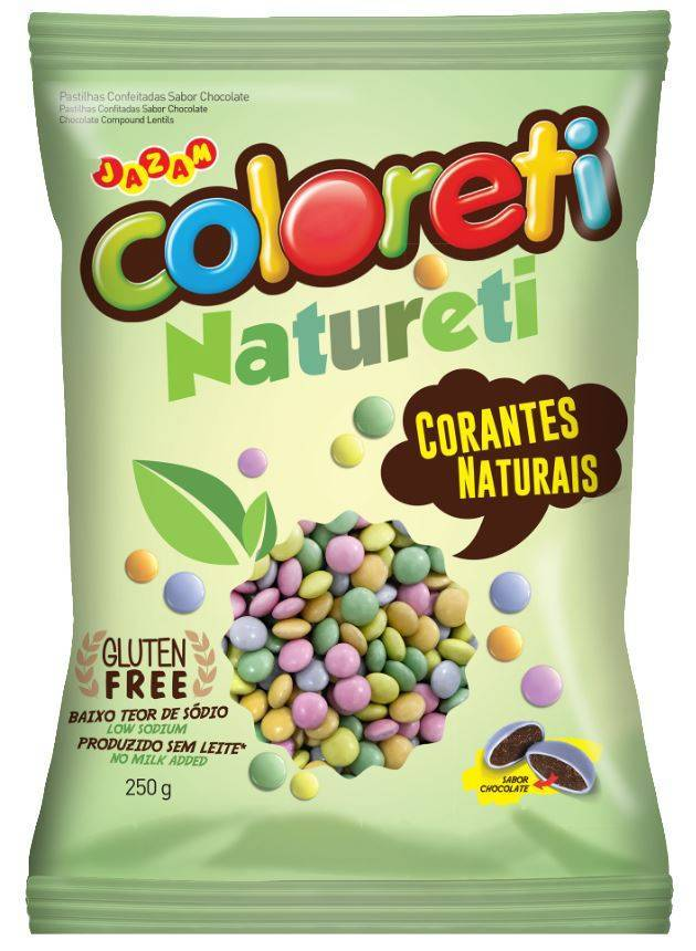 Coloreti Natureti Misto 250g - Jazam Alimentos