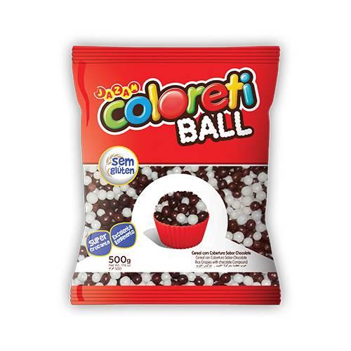 Coloreti Mini Ball 500g ao Leite e Branco - Jazam Alimentos