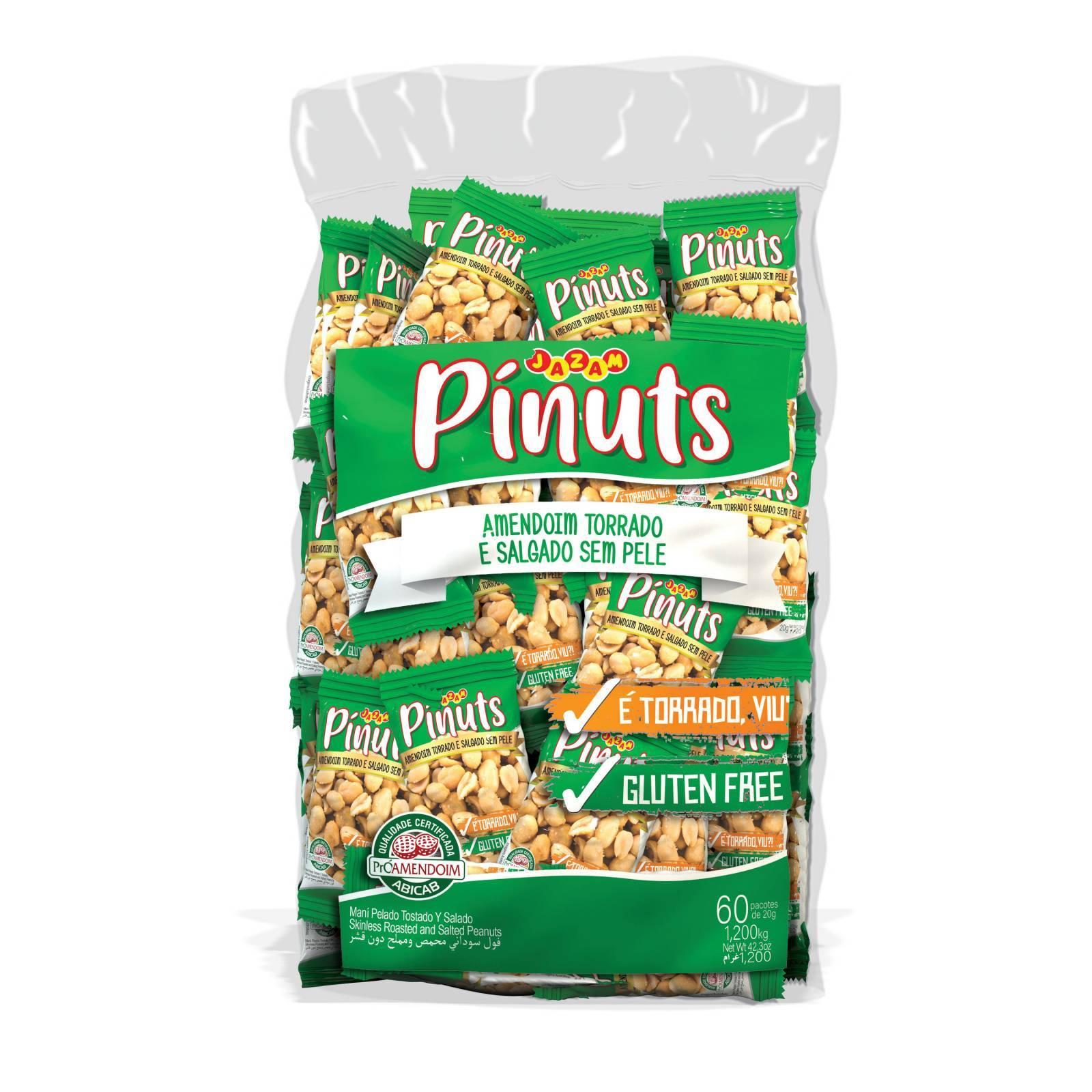Pínuts Amendoim Salgado e Torrado - Jazam Alimentos