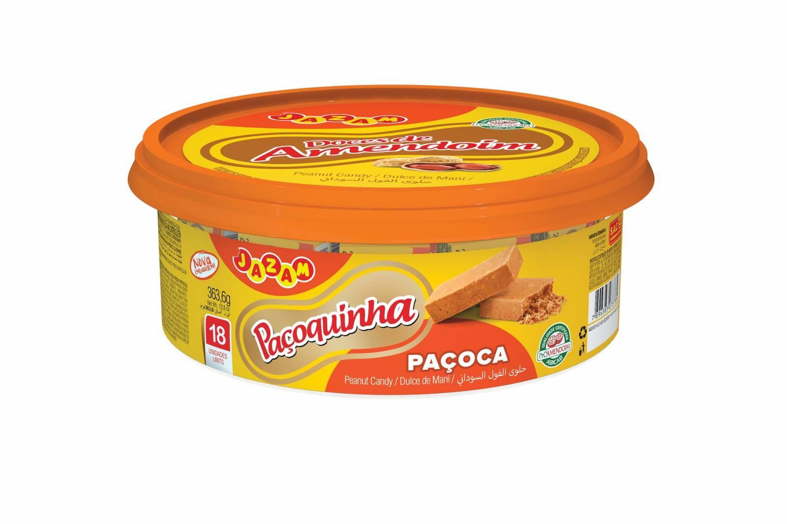 Paçoquinha Pote 363,6g - Jazam Alimentos