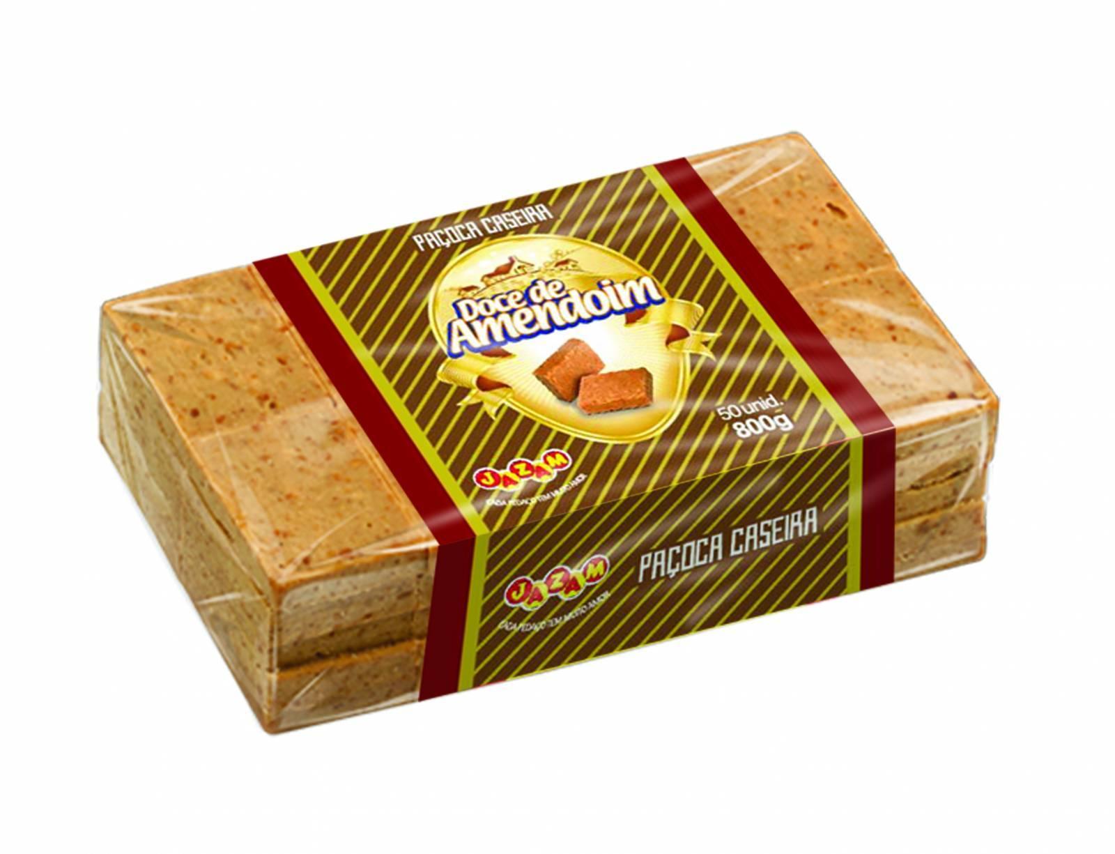 Paçoca Caseira Pacote 800g - Jazam Alimentos
