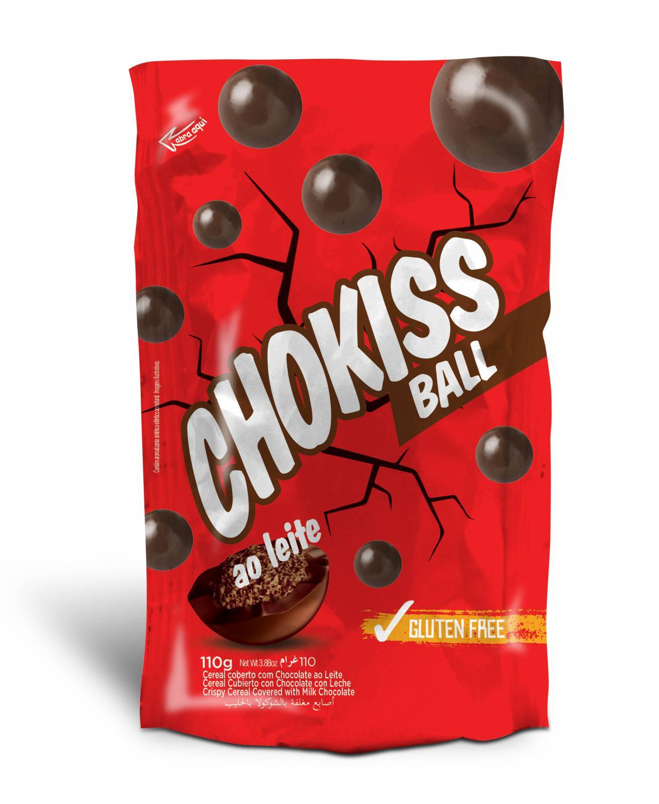 Chokiss Ball ao Leite110g. - Jazam Alimentos