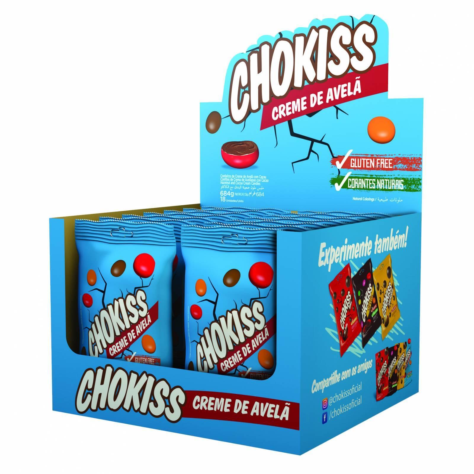Chokiss Creme de Avelã Display 38g - Jazam Alimentos