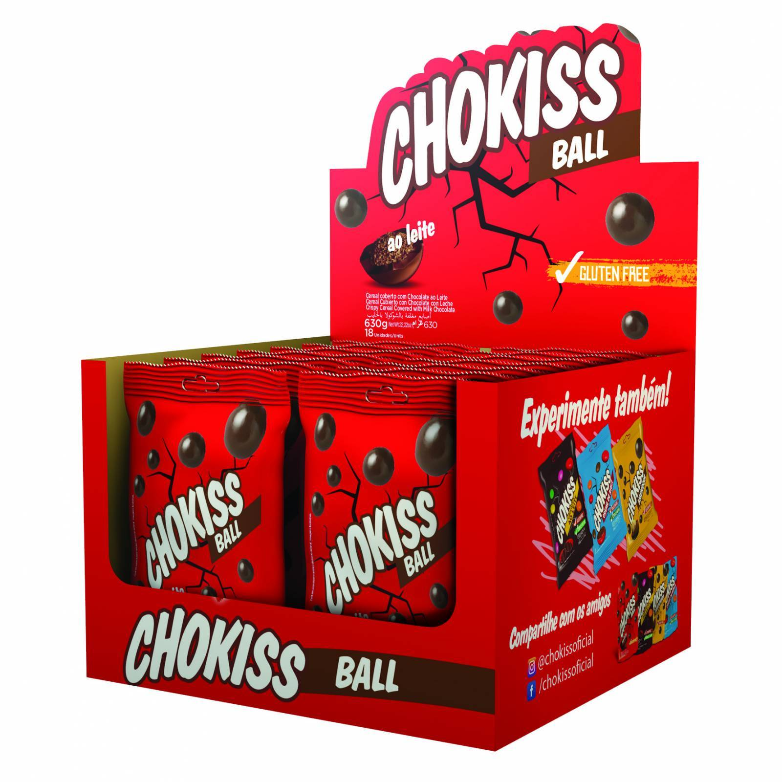 Chokiss Ball ao Leite Display 35g - Jazam Alimentos