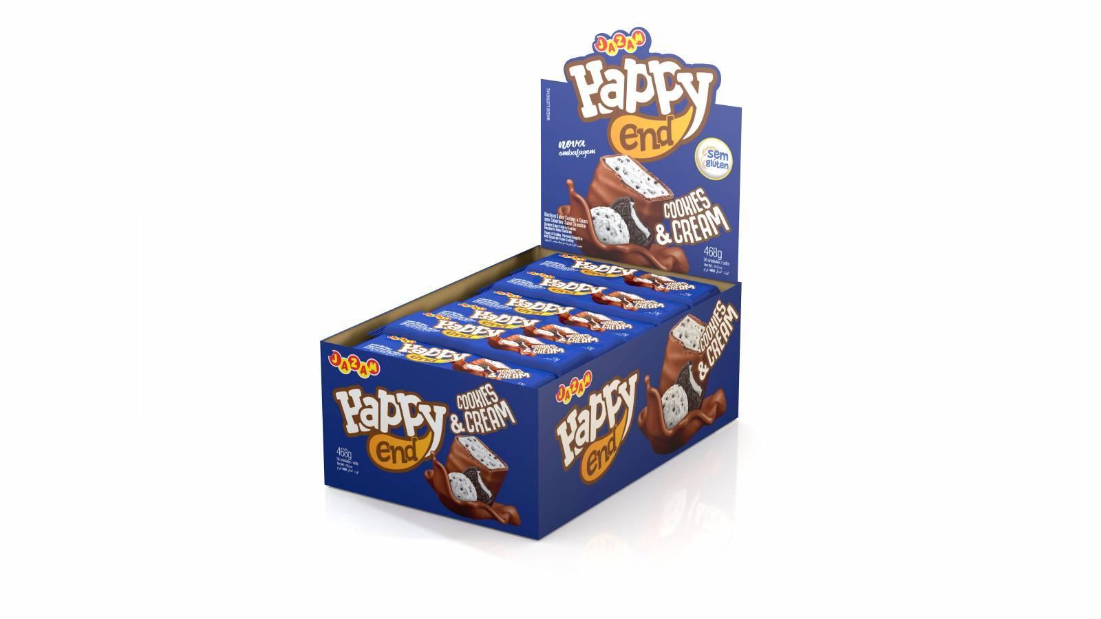 Bombom Happy End Cookies  & Cream - 468g - Jazam Alimentos