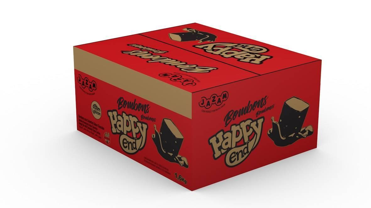 Bombom Happy End Cookies & Cream 200 un - 1,6kg - Jazam Alimentos