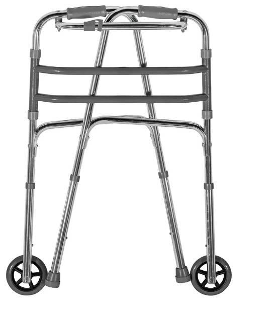 Andador Alumínio c/Rodas Adulto Regulável MERCUR - Soft Care Produtos Médicos