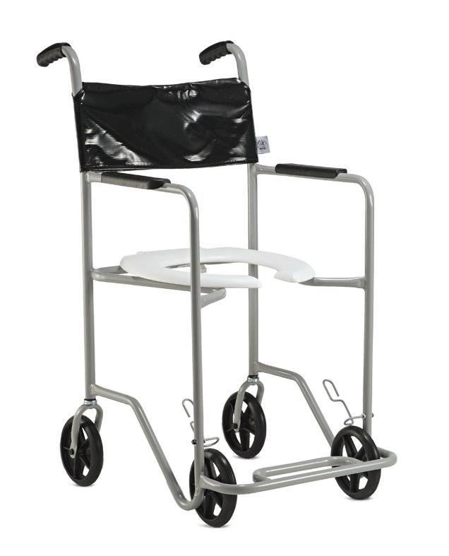 Cadeira de banho em aço fixa POP RI Jaguaribe - Soft Care Produtos Médicos