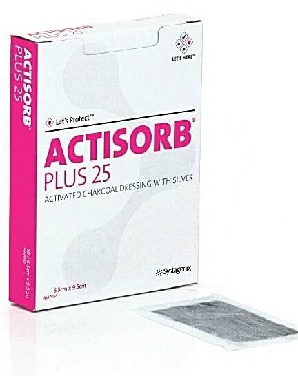 Actisorb Plus 6,5 x 9,5cm - Soft Care Produtos Médicos